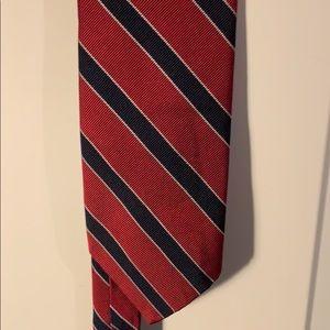 Tie red blue Robert talbott Cameron LTD. LA